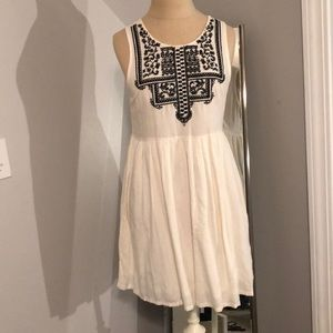 Cream dress with black detailing